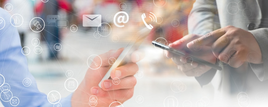 Mobile CRM is being used by sales people