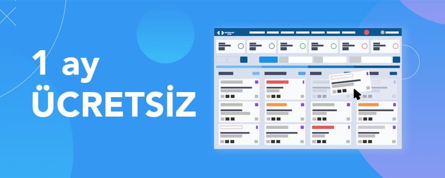 İlk ay ücretsiz Türkçe CRM yazılımı