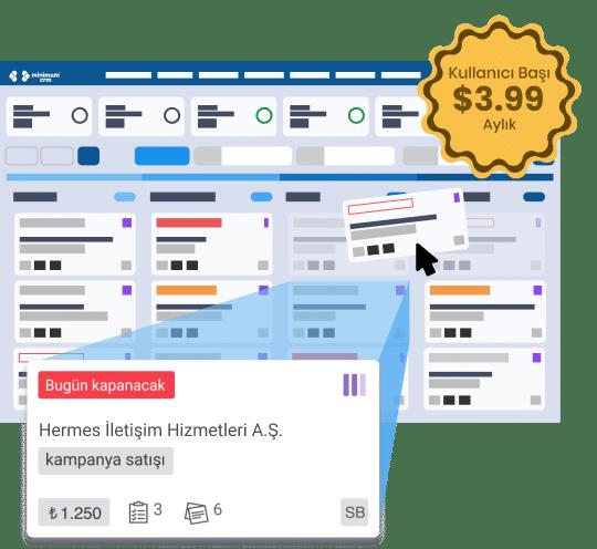 Online müşteri takip programı kanban tablosu ile satış takibi