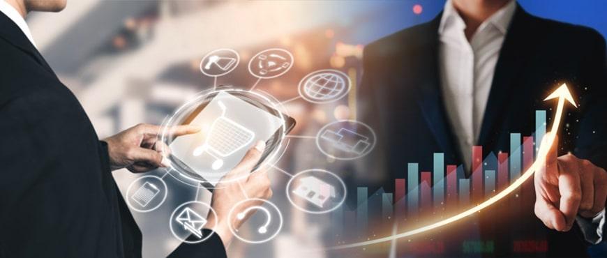 mobil crm programı kullanımıyla artan verimliliği temsil eden bir görsel